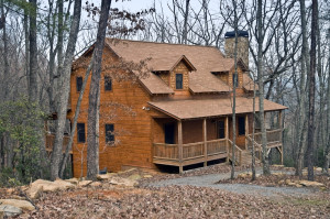 Log Home in the Woods